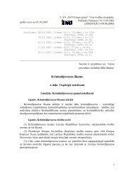 Kriminālprocesa likums - KNAB
