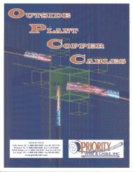 Outside Plant Copper Cables - Priority Wire & Cable