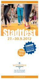 Programmheft Stadtfest 2012 - Wiesbadenaktuell