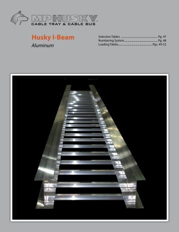 Section 4 - Husky I-Beam Ladder Cable Tray - MP Husky