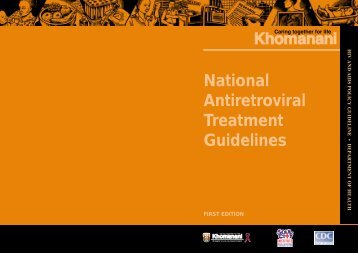 National Antiretroviral Treatment Guidelines - South Africa