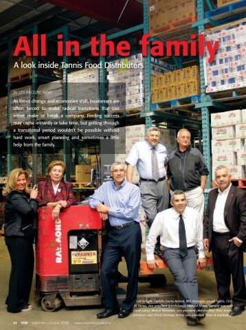 All in the family - Tannis Food Distributors