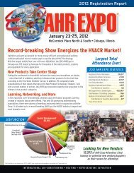 2012 Attendee Registration Report from the AHR Expo in Chicago ...