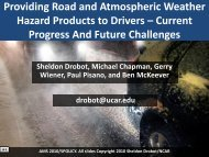 Providing Road and Atmospheric Weather Hazard Products to ...