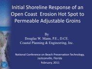 Initial Beach Response of an Open Coast Erosional Hotspot ... - fsbpa