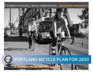 PORTLAND BICYCLE PLAN FOR 2030 - ESCI KSP