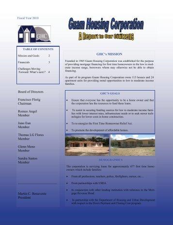 Guam Housing Corporation 2010 - AGA