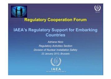 (A. Nicic) IAEA Regulatory Support for Embarking Countries - gnssn