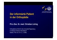 Der informierte Patient in der Orthopädie - Rheuma-Tage-Berlin
