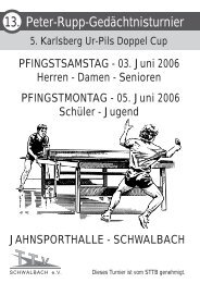 Peter-Rupp-Gedächtnisturnier des TTV Schwalbach - DJK Saarlouis ...