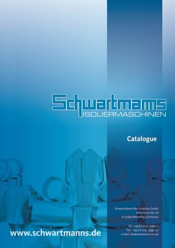 Catalogue (7,5MB) - schwartmanns.de