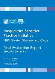 Inequalities Sensitive Practice Initiative - Equalities in Health