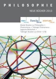 Philosophie 2013 - Gunter Narr Verlag/A. Francke Verlag/Attempto ...