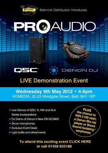 Live Demonstration event