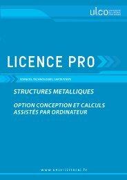 Licence pro Structures Métalliques - Université du Littoral-Côte-d ...