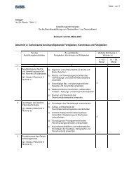 Ausbildungsrahmenplan Geomatiker - Wir gestalten Berufsbildung