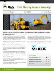 WORKFORCE Heavy Equipment Operator Program to deliver ...