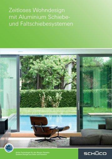 Zeitloses Wohndesign mit Aluminium Schiebe- und - Schüco