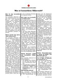 Was ist humanitäres Völkerrecht? - Österreichisches Rotes Kreuz