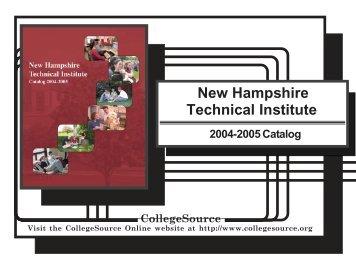 Catalog 04-05 - NHTI - Concord's Community College