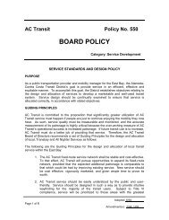 Service Standards and Design Policy - AC Transit