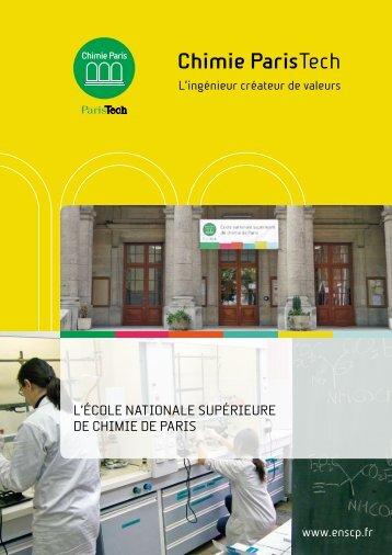 Présentation Chimie ParisTech
