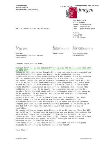 d.d. 13 mei 2008 met bijlage - Gemeente Nijmegen