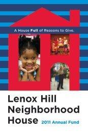 2013 Annual Appeal - Lenox Hill Neighborhood House