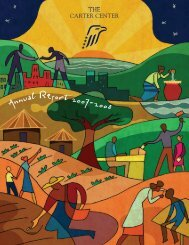 Annual Report 2007-2008 - The Carter Center