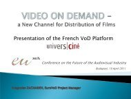 VIDEO ON DEMAND – a New Channel for distribution of films and a ...