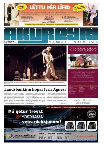 38. tölublað, 2. árgangur – 4. október 2012 - Akureyri Vikublað