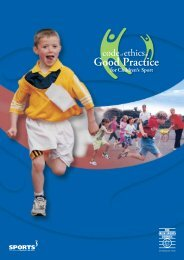 Code of ethics and good practice for children's sport