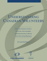 Understanding Canadian volunteers - Imagine Canada