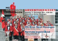 ADVENTSKONZERT MG Brass Band Münsingen Aaretaler Jugend ...