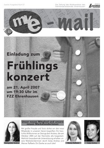 Frühlings konzert - Musikverein des Gemeindeverbandes ...