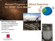 Recent Progress in Direct Searches for WIMP Dark Matter
