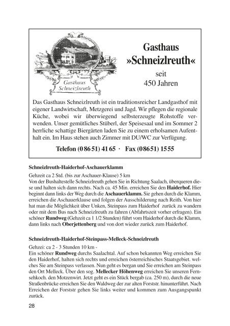 Gasthaus - Schneizlreuth