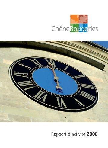Rapport d'activité 2008 [2 Mo] - Chêne-Bougeries