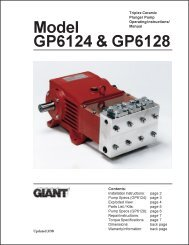 Model GP6124 & GP6128 - Giant Industries
