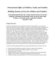 Building Systems of Care for Children and Families - Center for ...