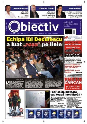 """Echipa lui Deculescu a luat pe linie """"roºu"""" - Obiectiv"""