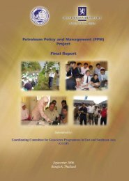 Petroleum Policy and Management Project Final Report - CCOP