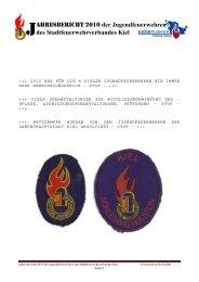 AHRESBERICHT 2010 der Jugendfeuerwehren des ...