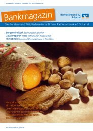 Ausgabe 02/Dezember 2012 - Raiffeisenbank eG Scharrel