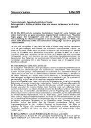 Presseinformation 4. Mai 2010 Schlaganfall - Hippocampus Verlag KG