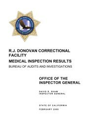 rj donovan correctional facility medical inspection results - California ...