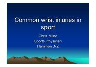 Common wrist injuries in sport
