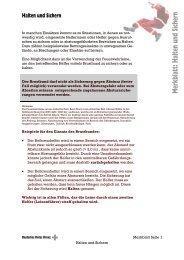 Merkblatt: Halten und Sichern