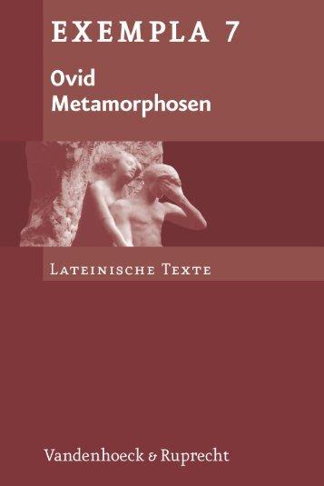 Ovid, Metamorphosen - Vandenhoeck & Ruprecht