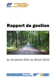 Rapport de gestion du 1er janvier 2011 au 30 juin 2012 - Palliative ch